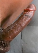 Young ebony tgirl Kendall Kumz has an amazing body, long legs and a perfect booty! Watch her posing and stroking her cock!