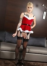 Lena Kelly puts on a cute little Xmas outfit for you in this scene! Don't you wish you would wake up on Christmas morning and find this hot littl