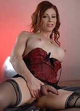 Hot TMILF Jasmine playing in bed in sexy corset
