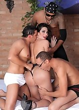 Whoa! Now come on guys, who doesn't love a good gangbang!? We know we do. Especially the girl is just smoking hot. Today we bring to you one of t