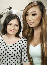 TS Venus Lux fakes being a plastic surgeon, seduces her client, fucks her on doc's desk! Slipping her thick cock insider her hot, wet, welcoming