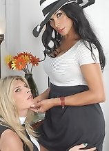Naughty Vaniity playing with TS Angelina