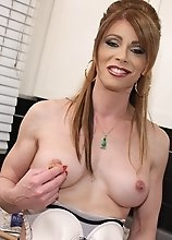Hot t-milf Jazmine gets nasty in the kitchen